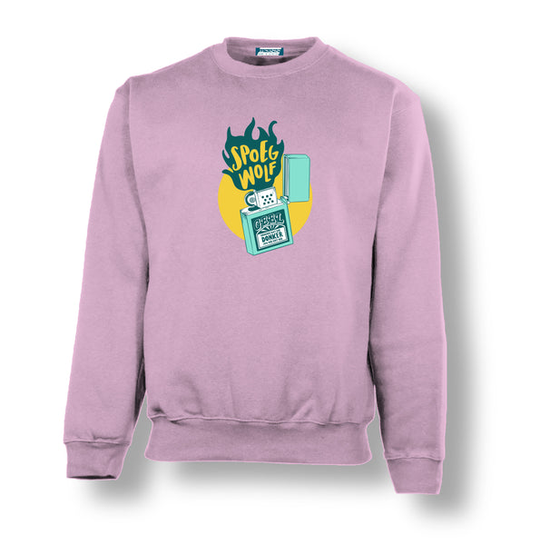 """Spoegwolf"" Pink Sweater"