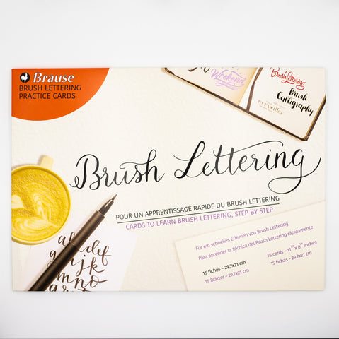 Brause Brush Lettering Practice Cards