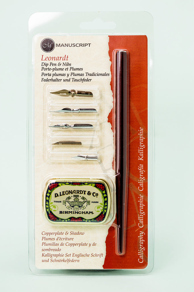 Leonardt Dip Pen Set - Copperplate & Shadow
