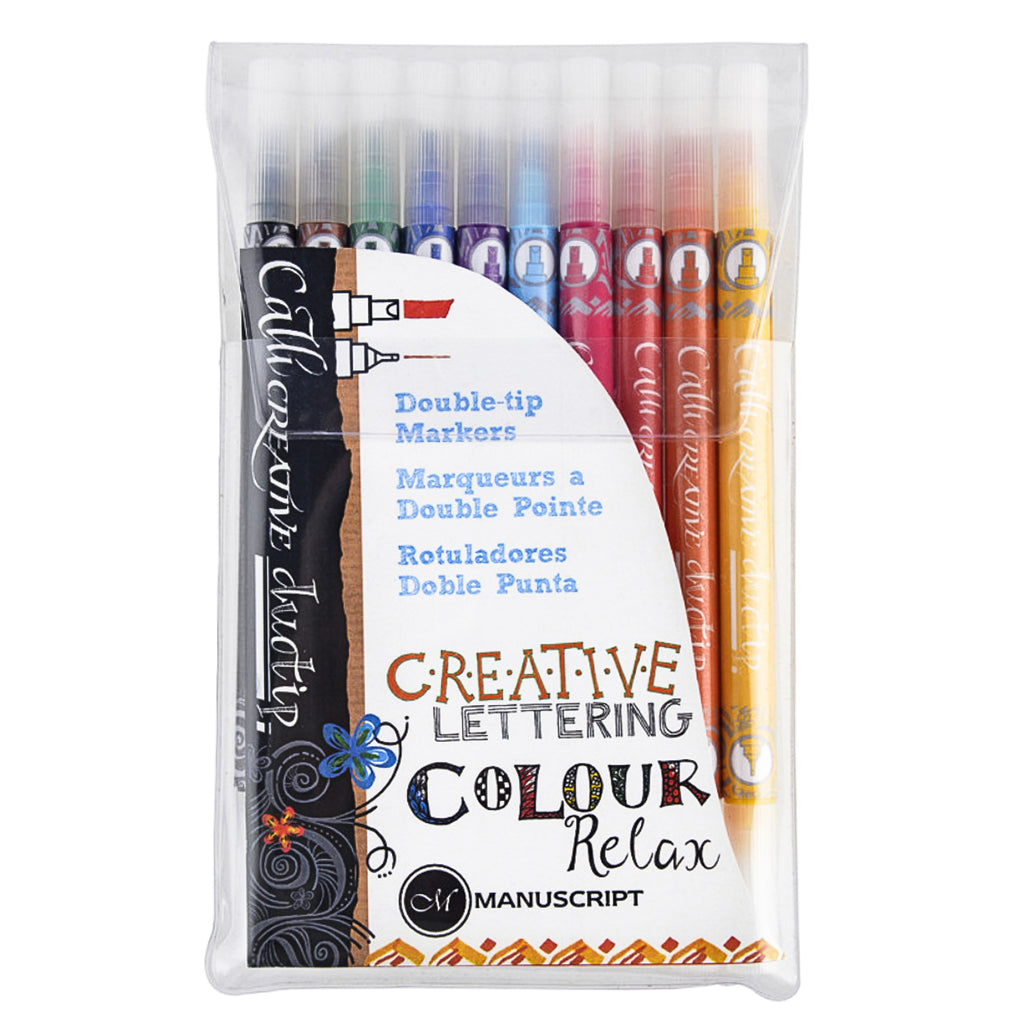 Callicreative Duotip pens, wallet of 10