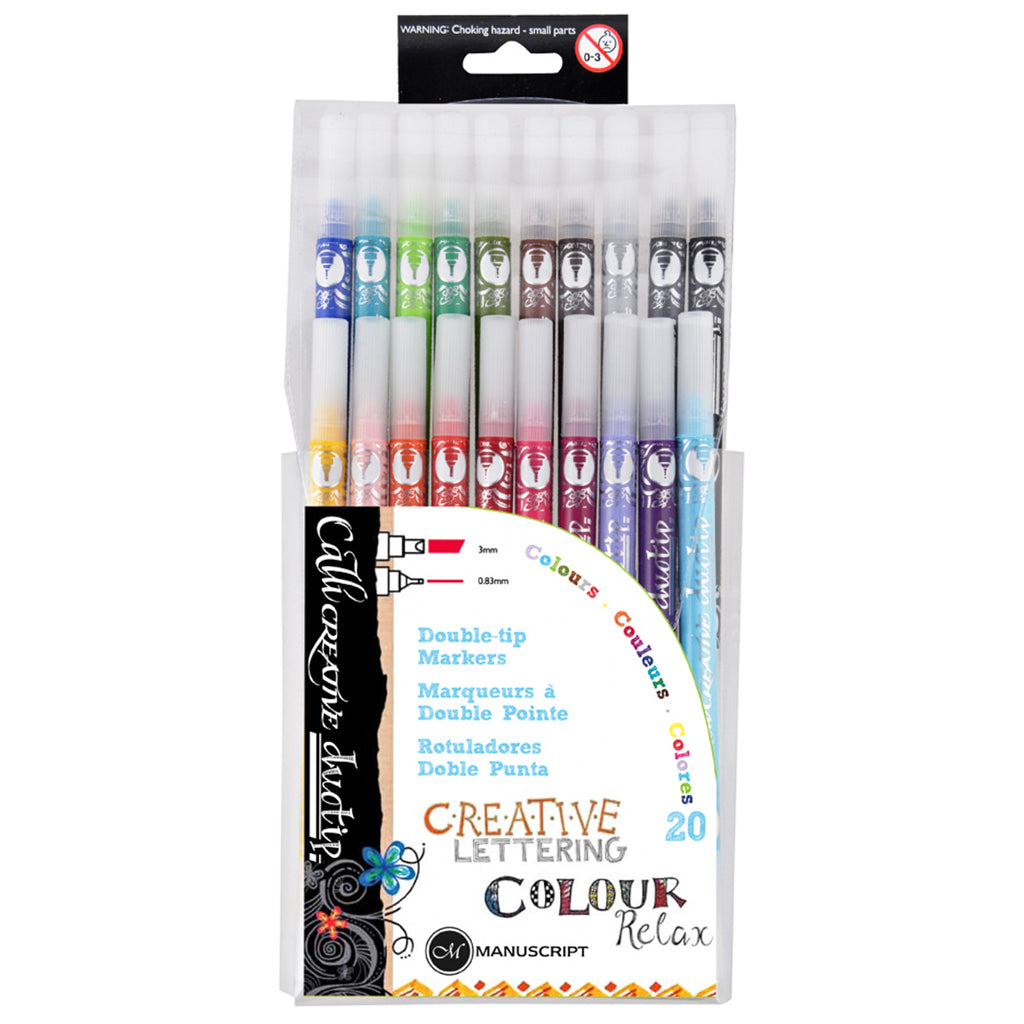 Callicreative Duotip Pens - Wallet of 20