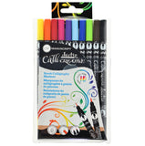 Callicreative Duotip Brush Markers - 10 pens