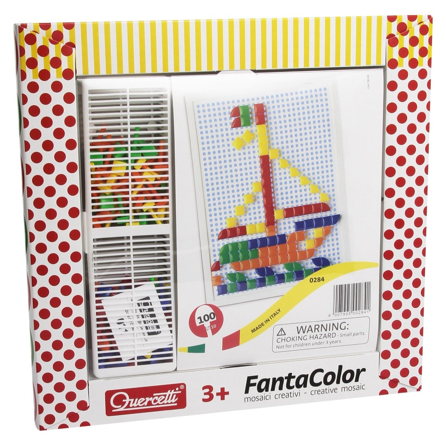 FantaColor Peg Board (100 square pegs) - Edunique