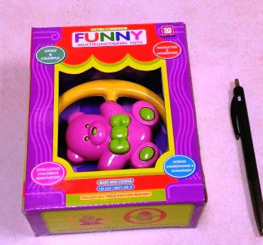 Rattle Funny Bear Boxed (6/Pack)