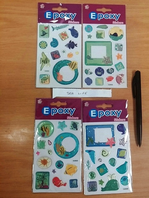Epoxy Sea  Sticker   (4ass 12/pack) - Edunique