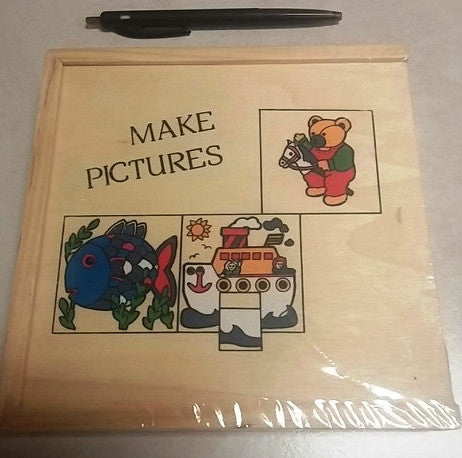 Wood Puzzle 9pc (6/Pack) - Edunique