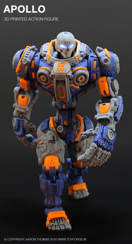 Apollo 3D Printed Action Figure (Assembled) - Toy Forge
