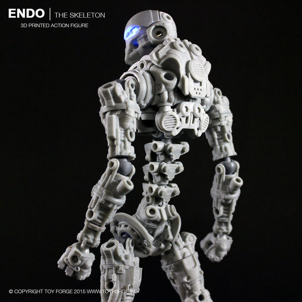 Endo The Skeleton 3D Printed Action Figure