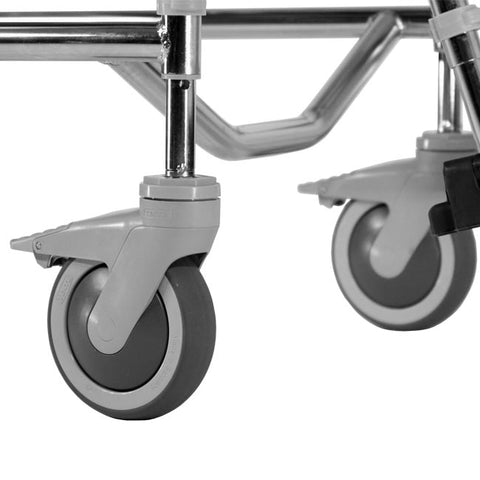 Commode with wheels extension