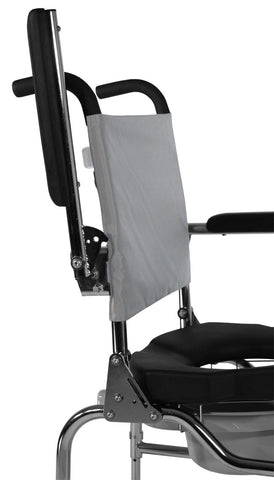 Comfortable backrest commode with armrest lock