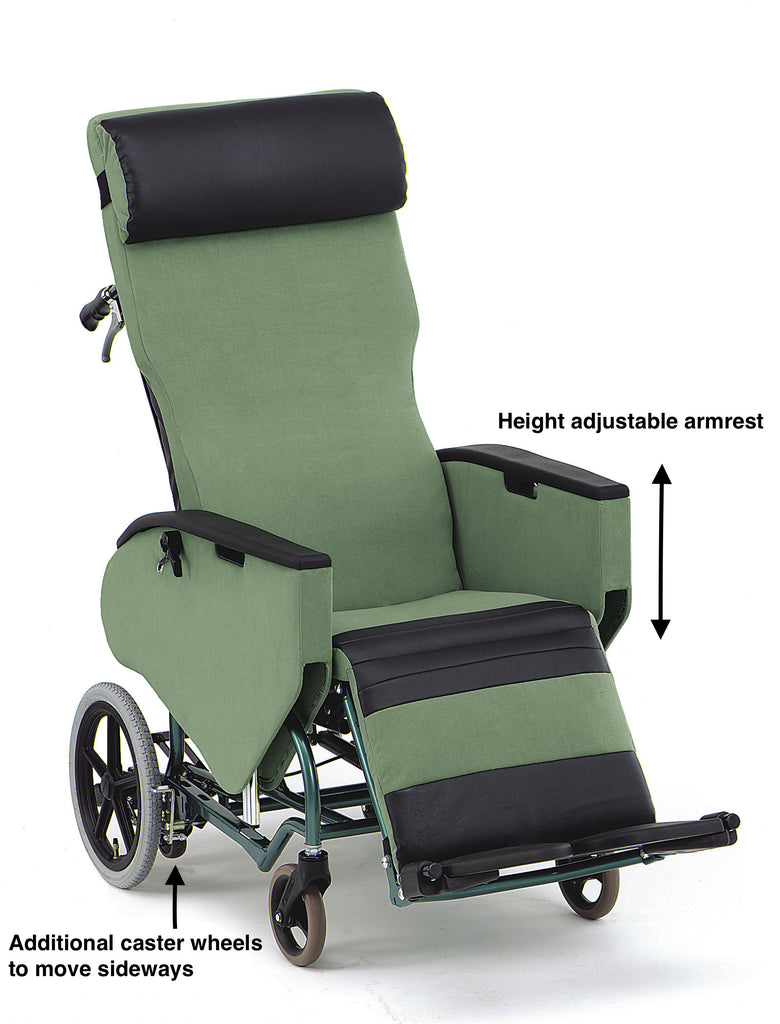 Plush Wheelchair Bed Fully Tilt And Reclining