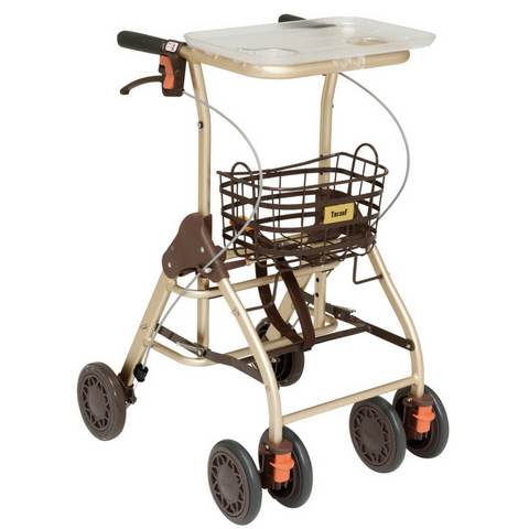 Multi-Purpose Rollator with Adjustable Wheel and Brake