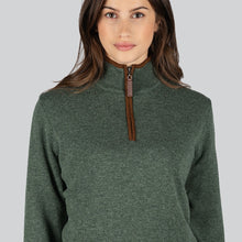 Load image into Gallery viewer, LADIES LAMBSWOOL AEROBLOC 1/4 ZIP JUMPER