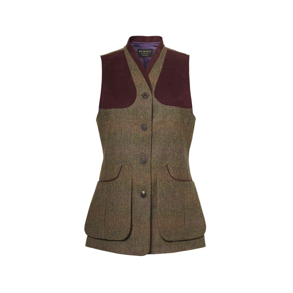 LADIES BEATRICE TWEED SHOOTING VEST