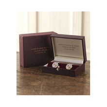 Load image into Gallery viewer, PURDEY CARTRIDGE CAP/GOLD PIN SILVER CUFFLINKS
