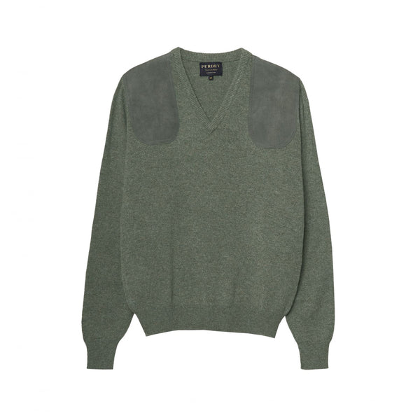 LADIES V NECK SHOOTING SWEATER
