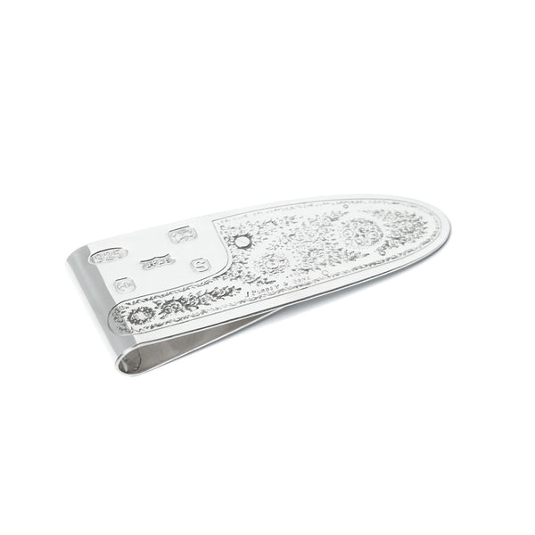 SILVER SIDELOCK MONEY CLIP