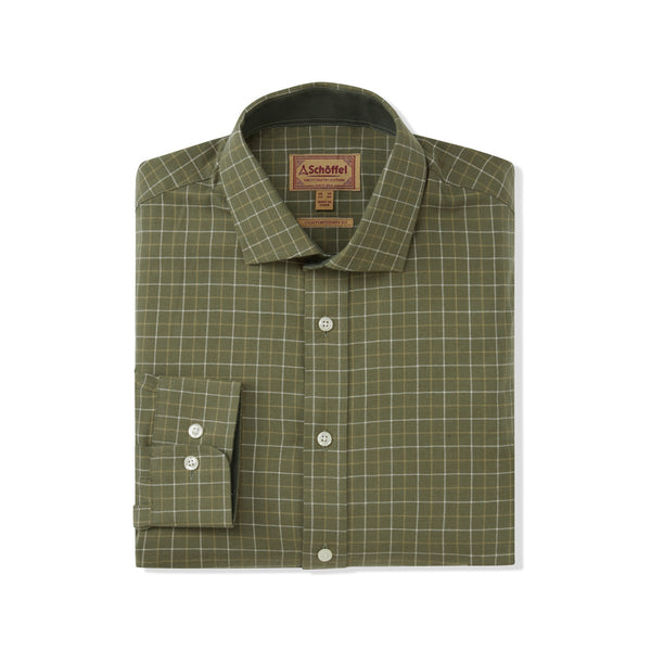 Newton Tailored Sporting Shirt Lovat Check