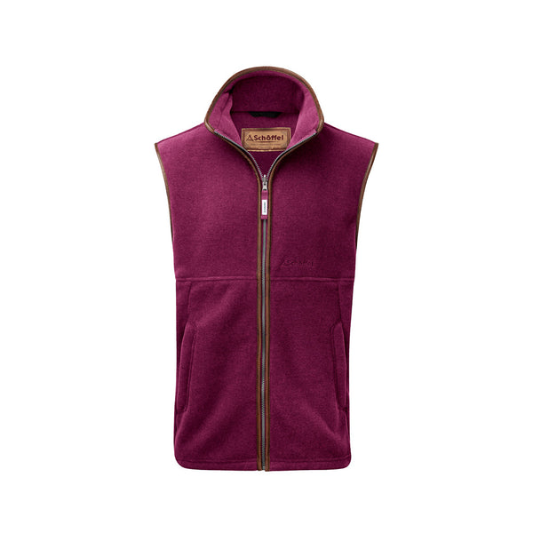 Oakham Fleece Gilet - Plum