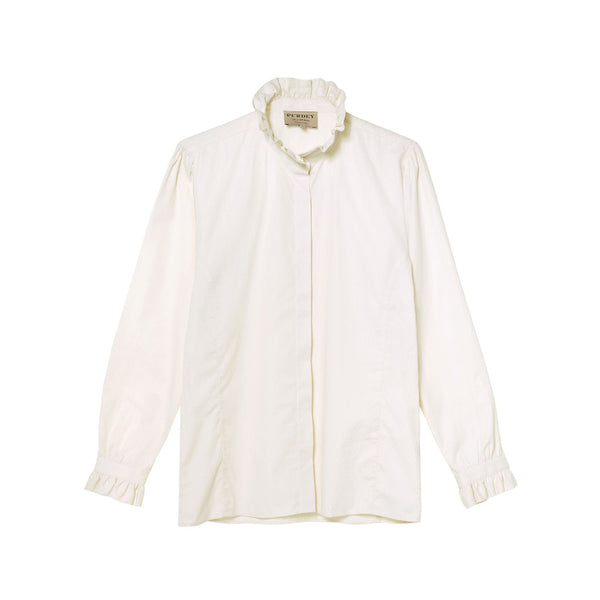 LADIES JACQUARD PIE CRUST COLLAR SHIRT