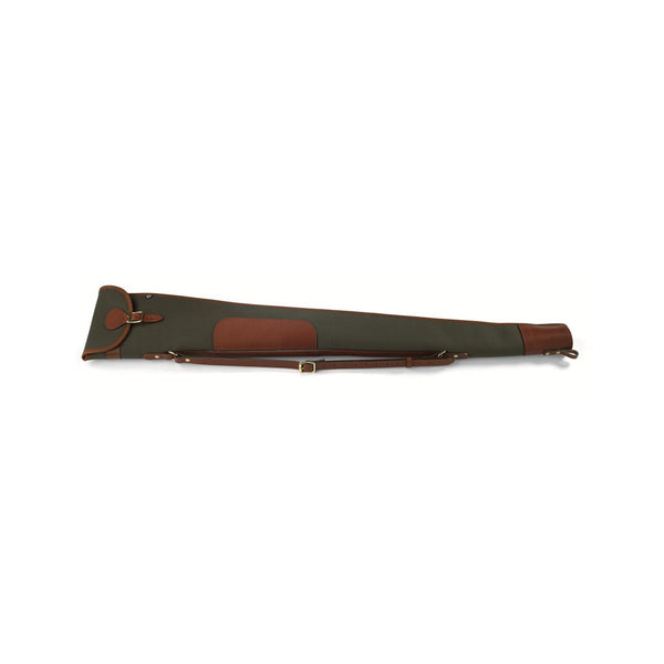 ROSEDALE SHOTGUN SLIP WITH FLAP AND ZIP (LODEN GREEN WITH TAN LEATHER)