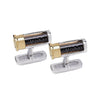 SILVER CARTRIDGE CUFFLINKS WITH LOOSE SHOT