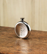 Load image into Gallery viewer, 6oz ROUND PEWTER FLASK