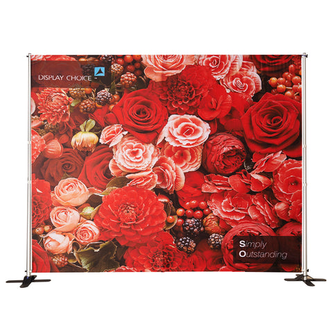10' Venus™ Telescopic  Backdrop, W10'×H8' Single Sided Printing Only
