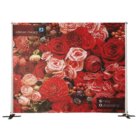 10' Booti™ Adjustable size Backdrop with W10'×H8' Customized Printing