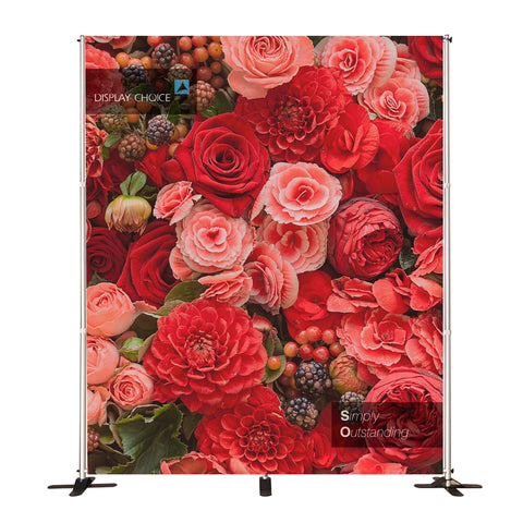 10' Venus™ Telescopic Fabric Backdrop, W8'×H10' Single Sided Printing Only