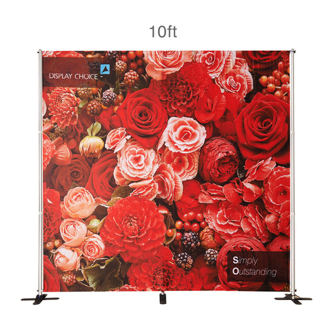 10' Venus™ Telescopic Backdrop with W10'×H10' Customized Printing