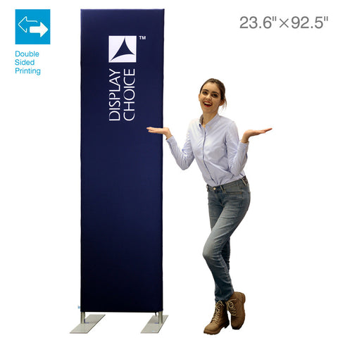 2' Booti™ Vertical Trade Show Display with Double Sided Customized Printing