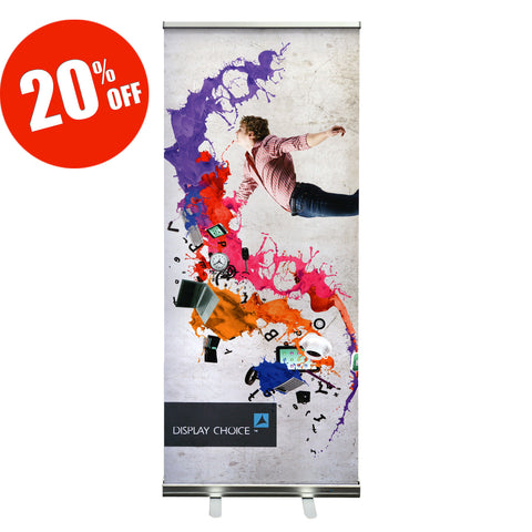 "33.5""×78"" Arae™ Retractable Banner Stand with Customized Printing"