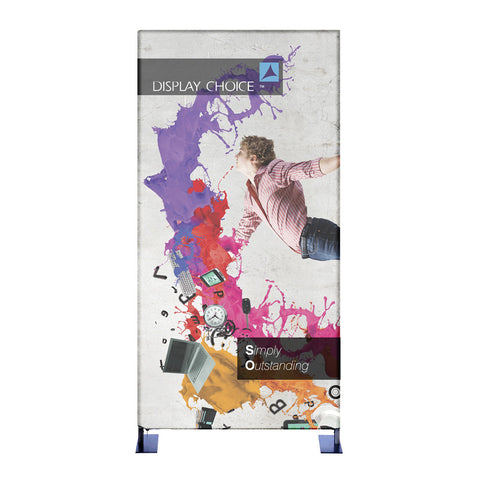 4' Booti™ Vertical Trade Show Display with Single Sided Customized Printing