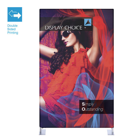 5' Booti™ Vertical Trade Show Display with Double Sided Customized Printing
