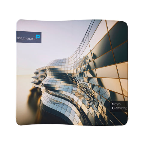 8' Venus™ S-Curved Fabric Back Wall, Single Sided Customized Printing Only