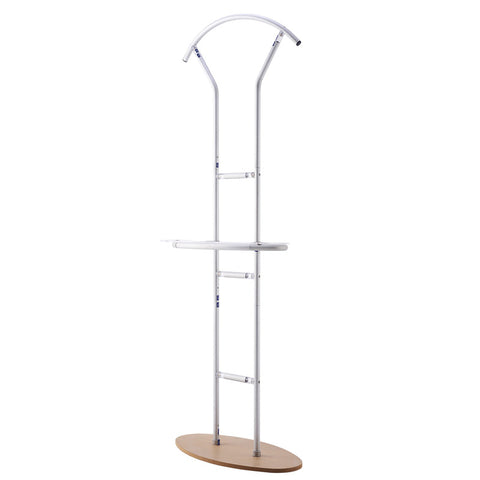 Pisci™ Symmetrical Fabric Banner Stand With Display Shelf, Frame Only