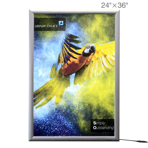 "24""×36"" Moon™ Snap Frame 1"" Slim LED Light Box with Customized Printing"