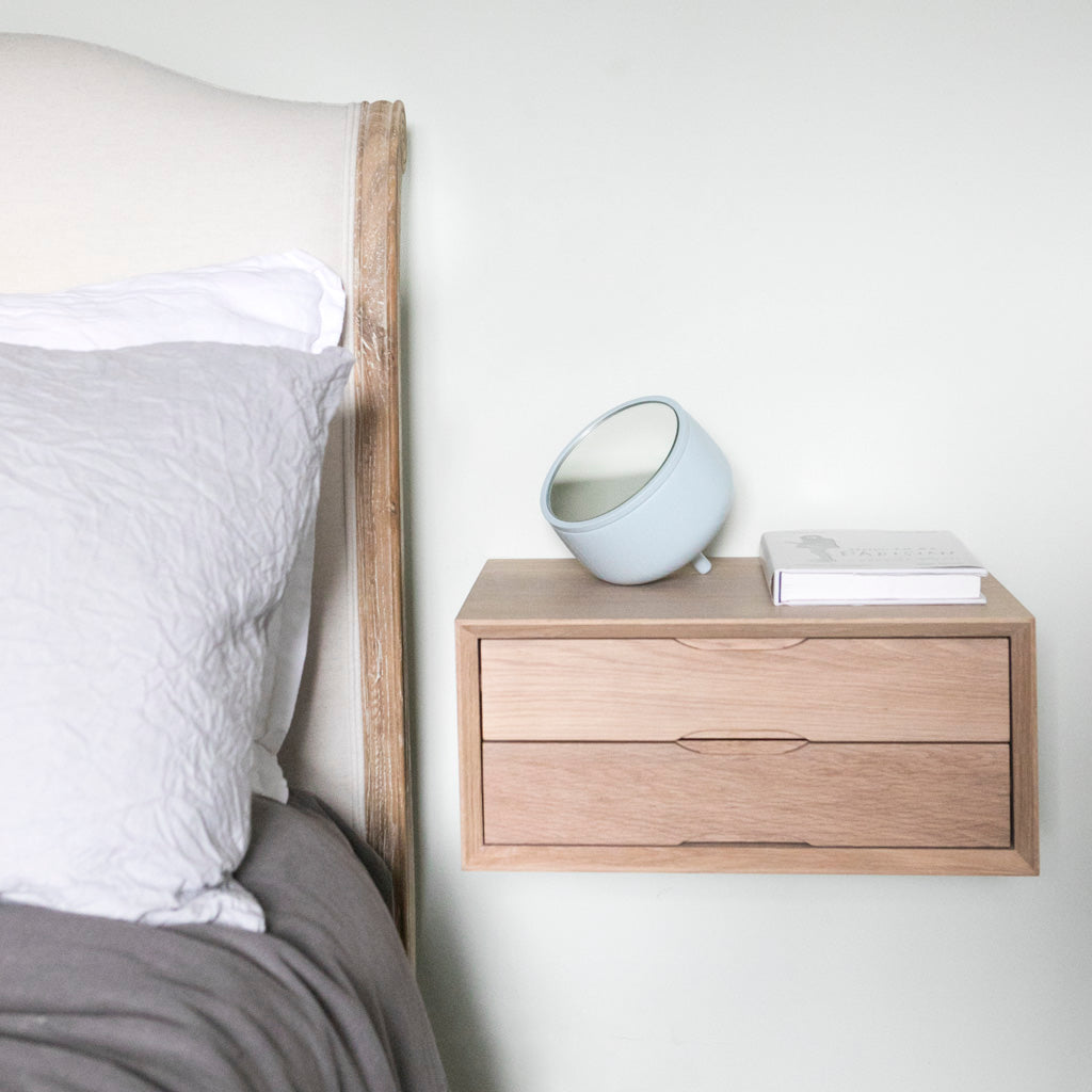floating_oak_bedside_double_drawer