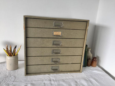 Antique stationery drawers
