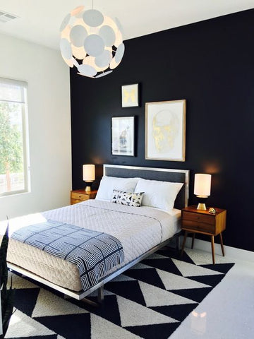 geometric bedroom