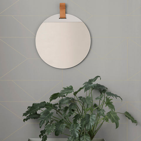 Ferm living round mirror