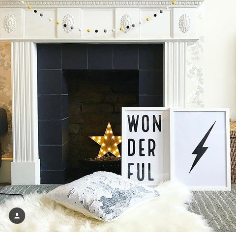 instagram interior design inspiration - little house in London fireplace
