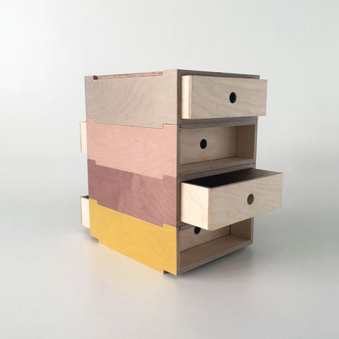 De Steyl multicoloured wooden drawers