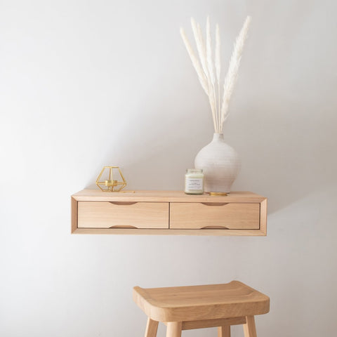 Urbansize oak floating dressing table