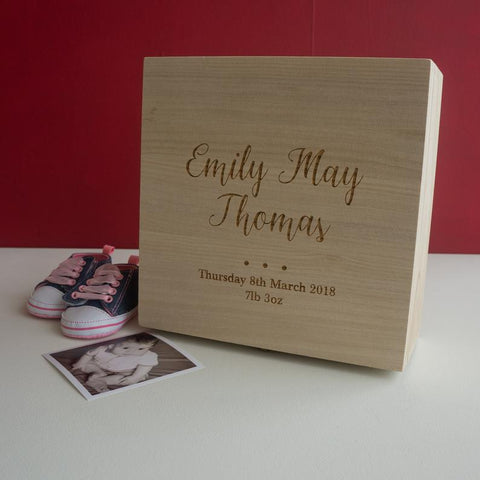 Personalized baby memory box