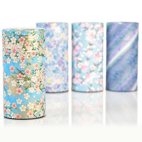 Washi tea cannisters
