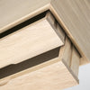 oak double drawer close up drawer out view