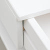 white floating drawer bedside detail