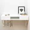 white floating dressing table